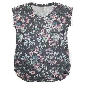 Ideology Floral-Print T-Shirt XS NEW M299